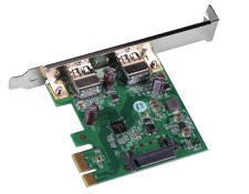 USB 3.0 PCIe 2 x 1 Port Card